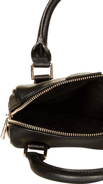 Topshop Mini Double Handle Bag In Black Lyst