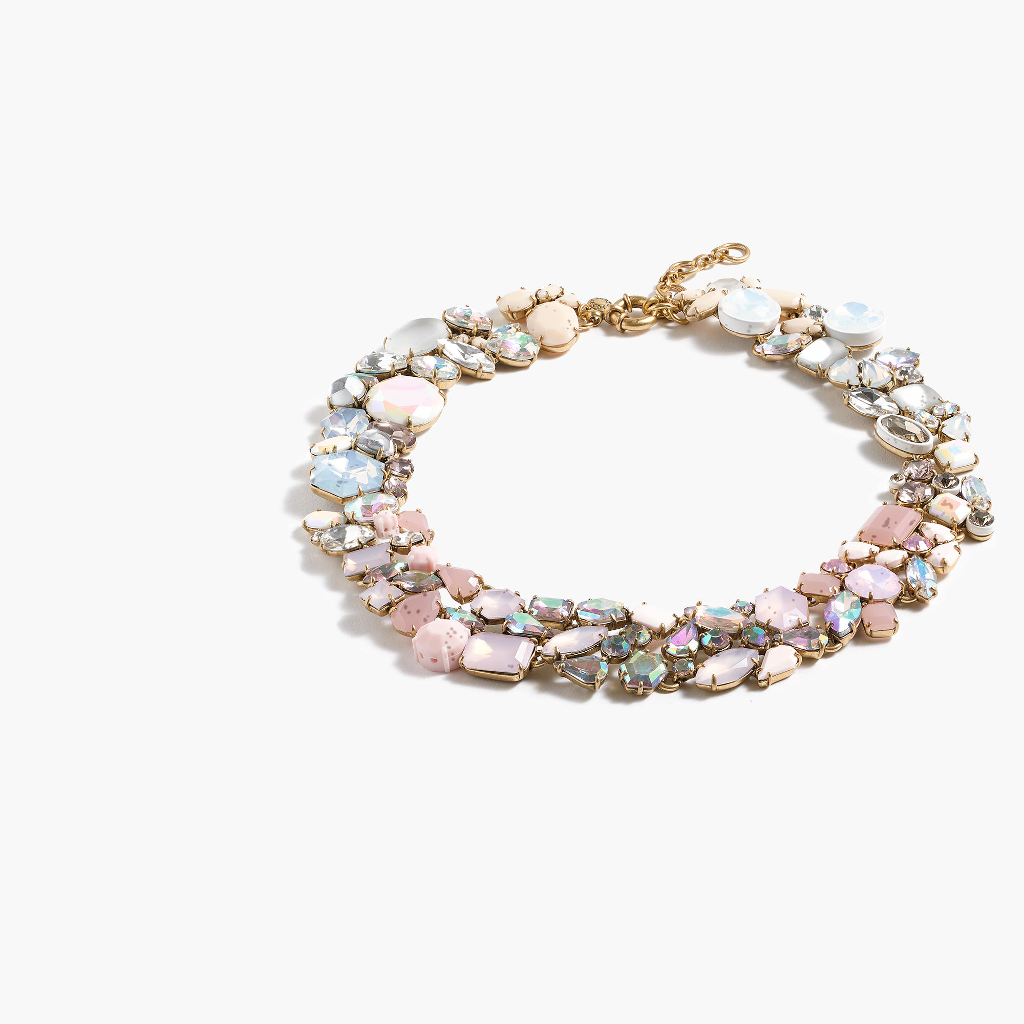 Ombr crystal necklace in pink lyst for J crew jewelry 2015