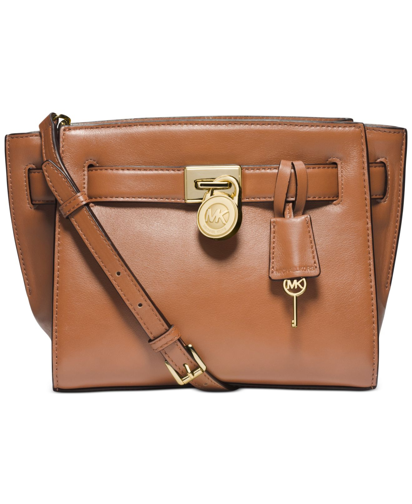 Michael Kors Hamilton Laukku : Michael kors hamilton traveler messenger in brown