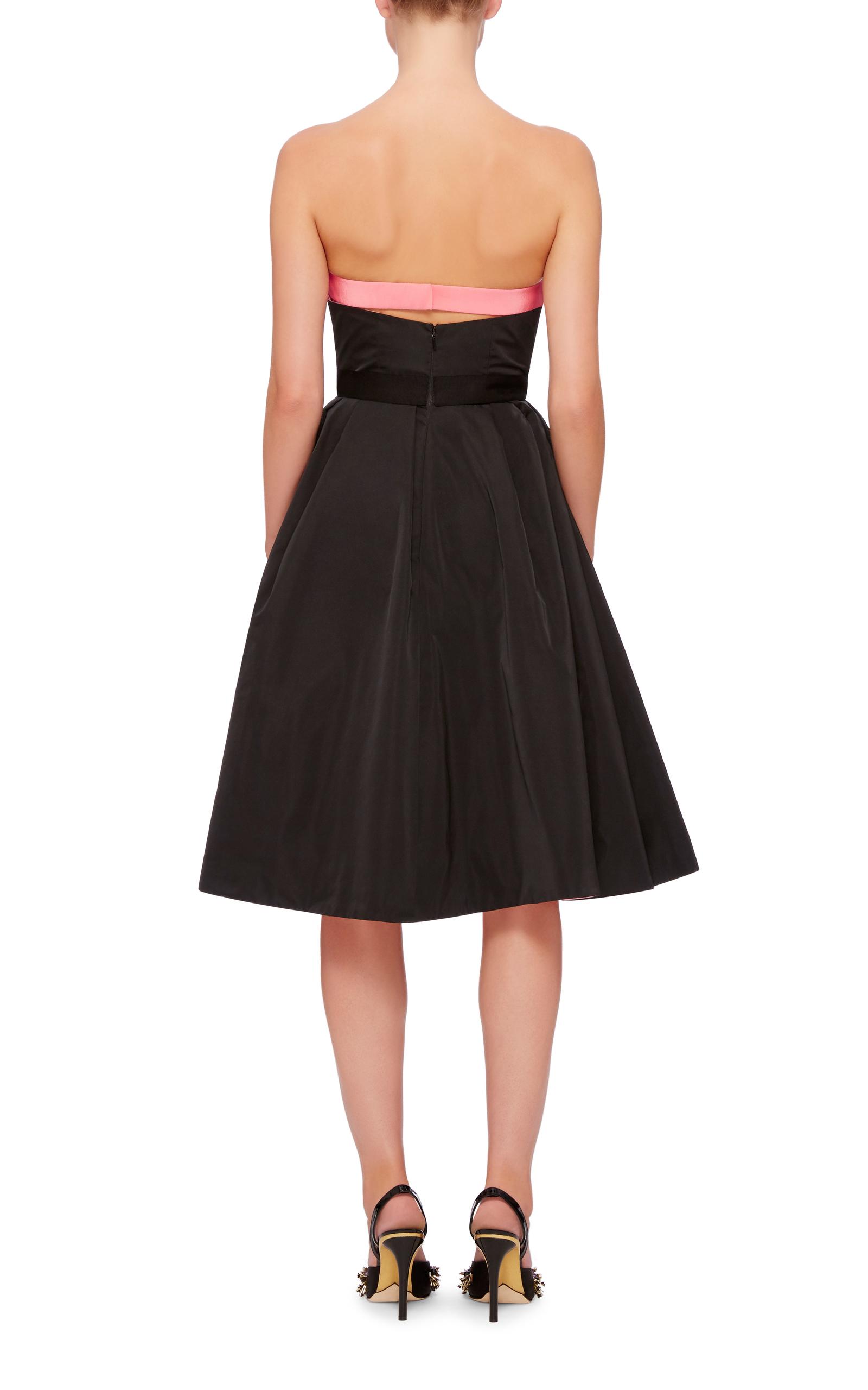 Oscar de la renta Bow Detail Crossover Skirt Dress in ...