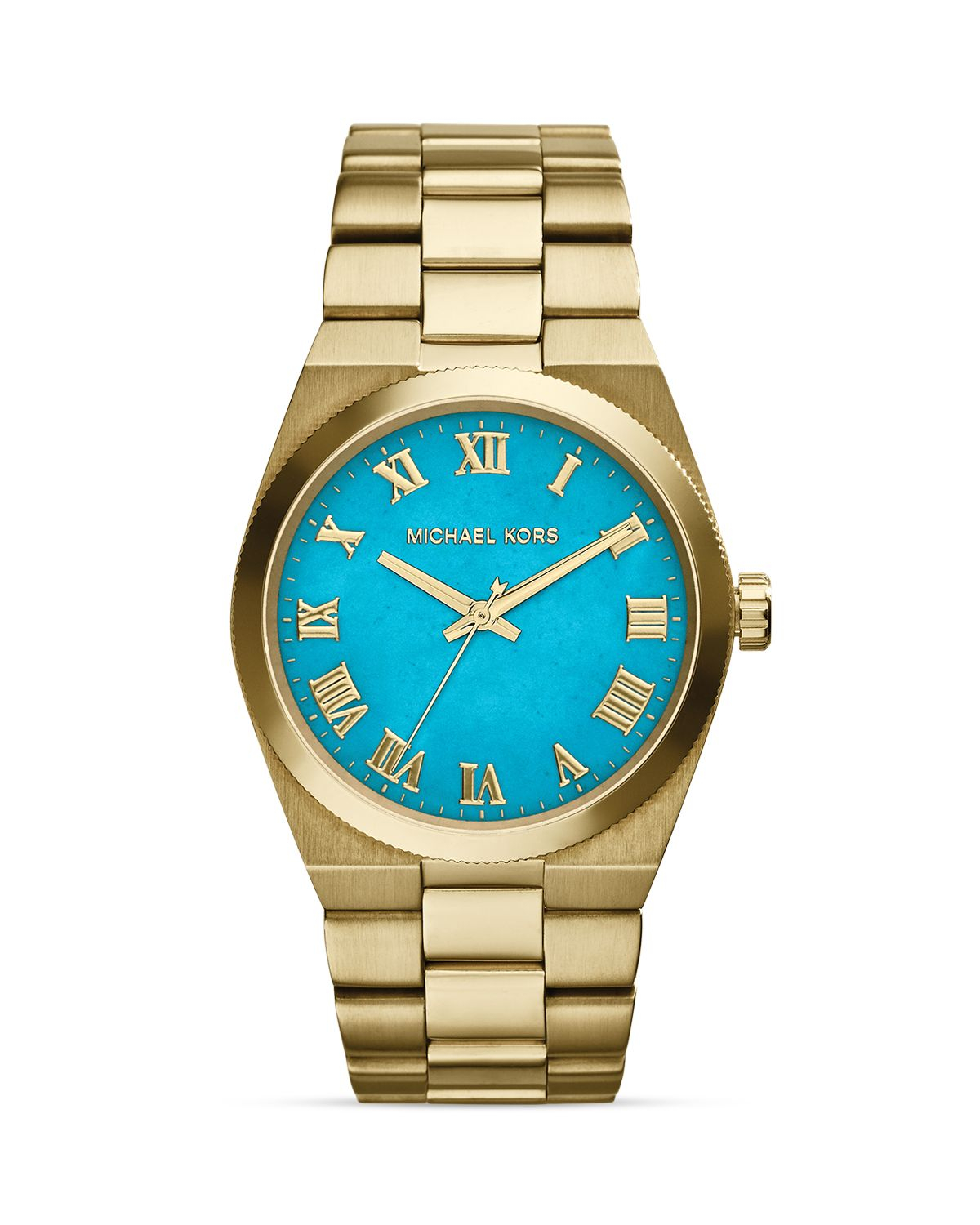 michael kors gold tone genuine turquoise channing