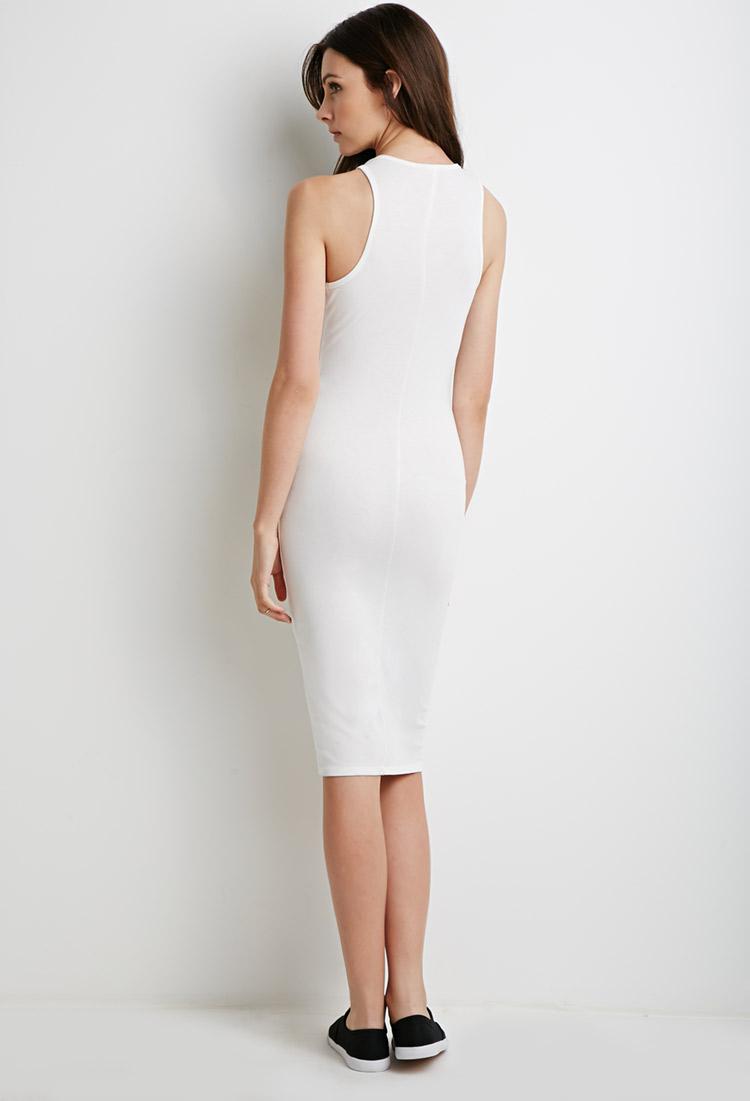Lyst Forever 21 Racerback Midi Dress In White