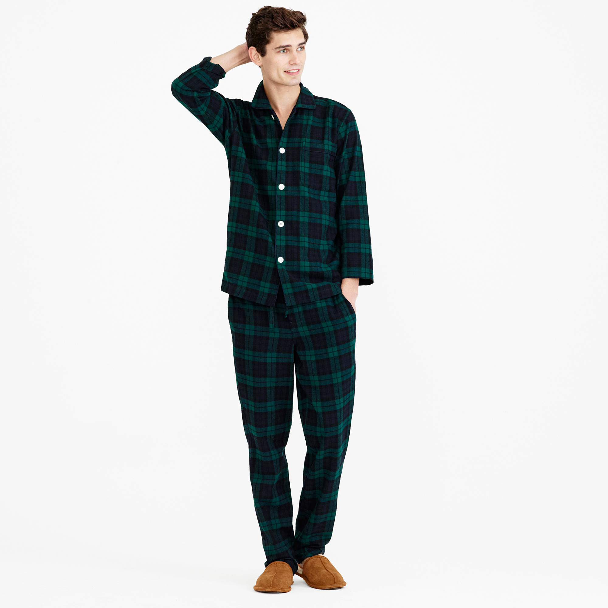Black Flannel Pajamas Breeze Clothing