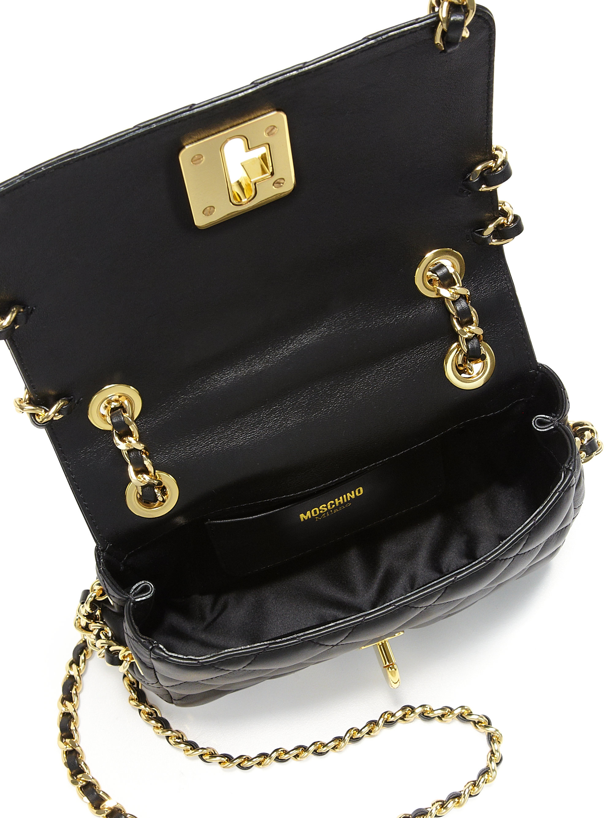 278a547f1db Quilted Gold Chain Handbag