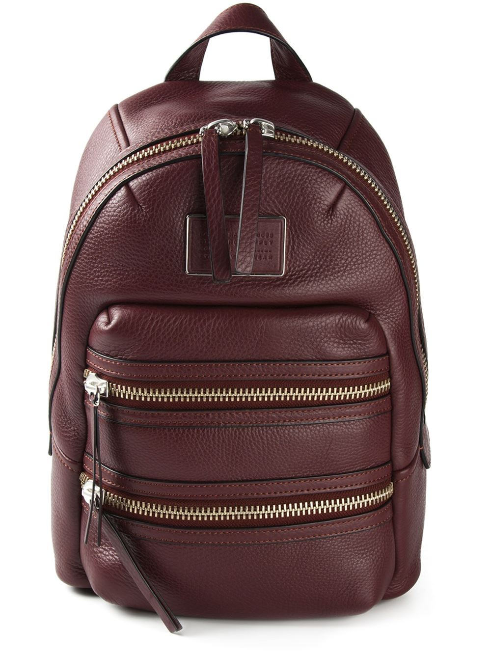 lyst marc by marc jacobs domo biker backpack in brown. Black Bedroom Furniture Sets. Home Design Ideas