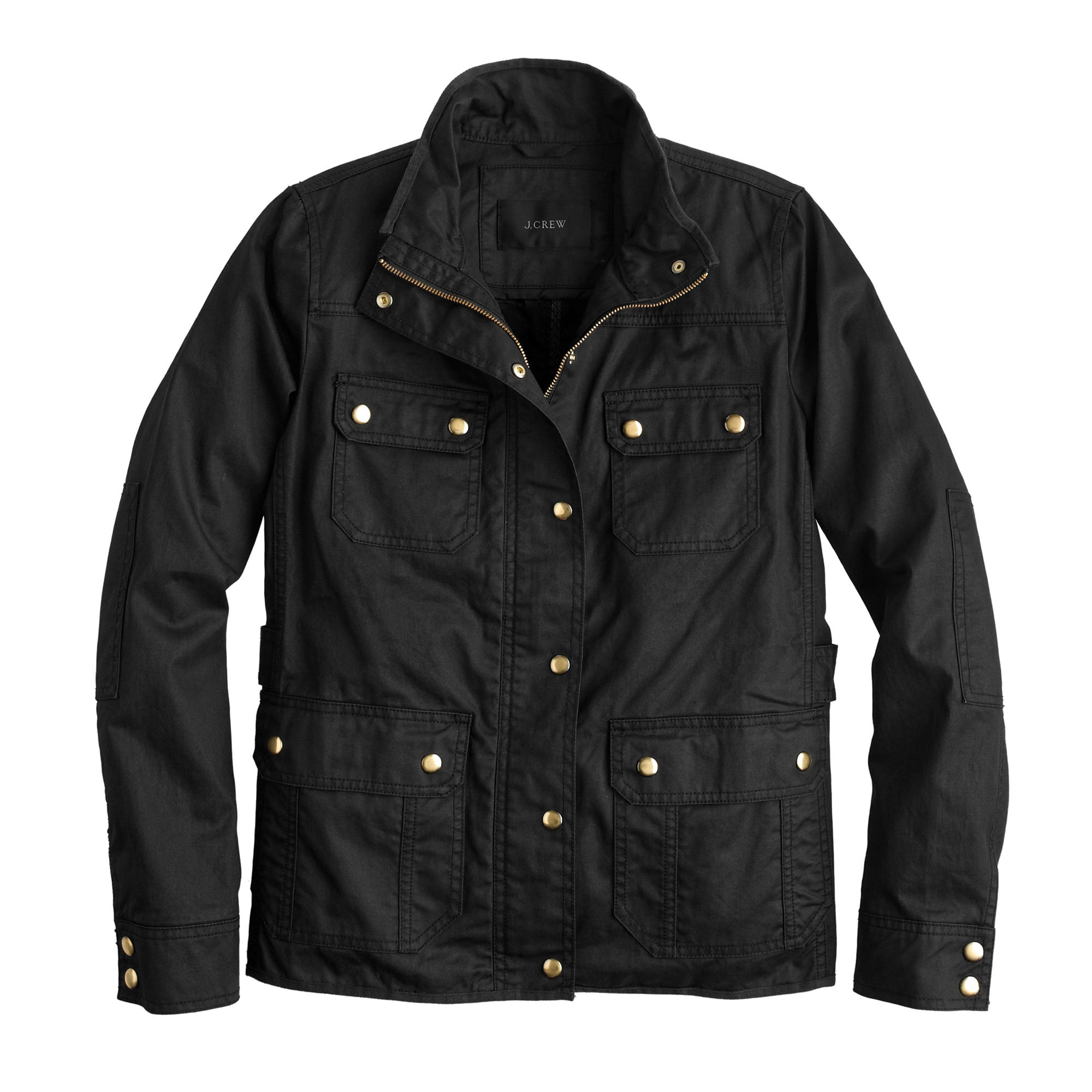 J Crew The Petite Downtown Field Jacket In Black Lyst