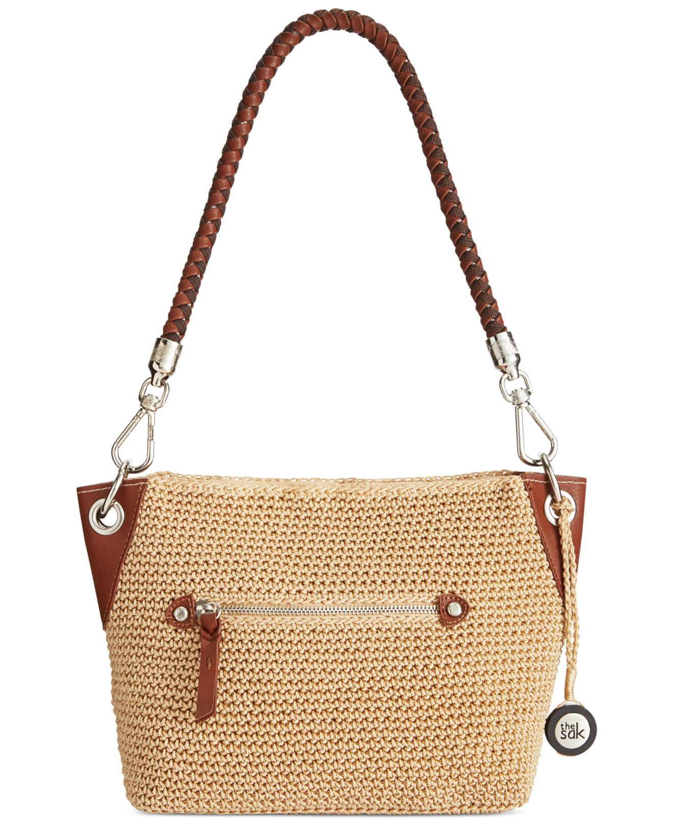 The Sak Bags Crochet : The sak Portola Crochet Demi Bag in Beige (Canyon Stripe) Lyst