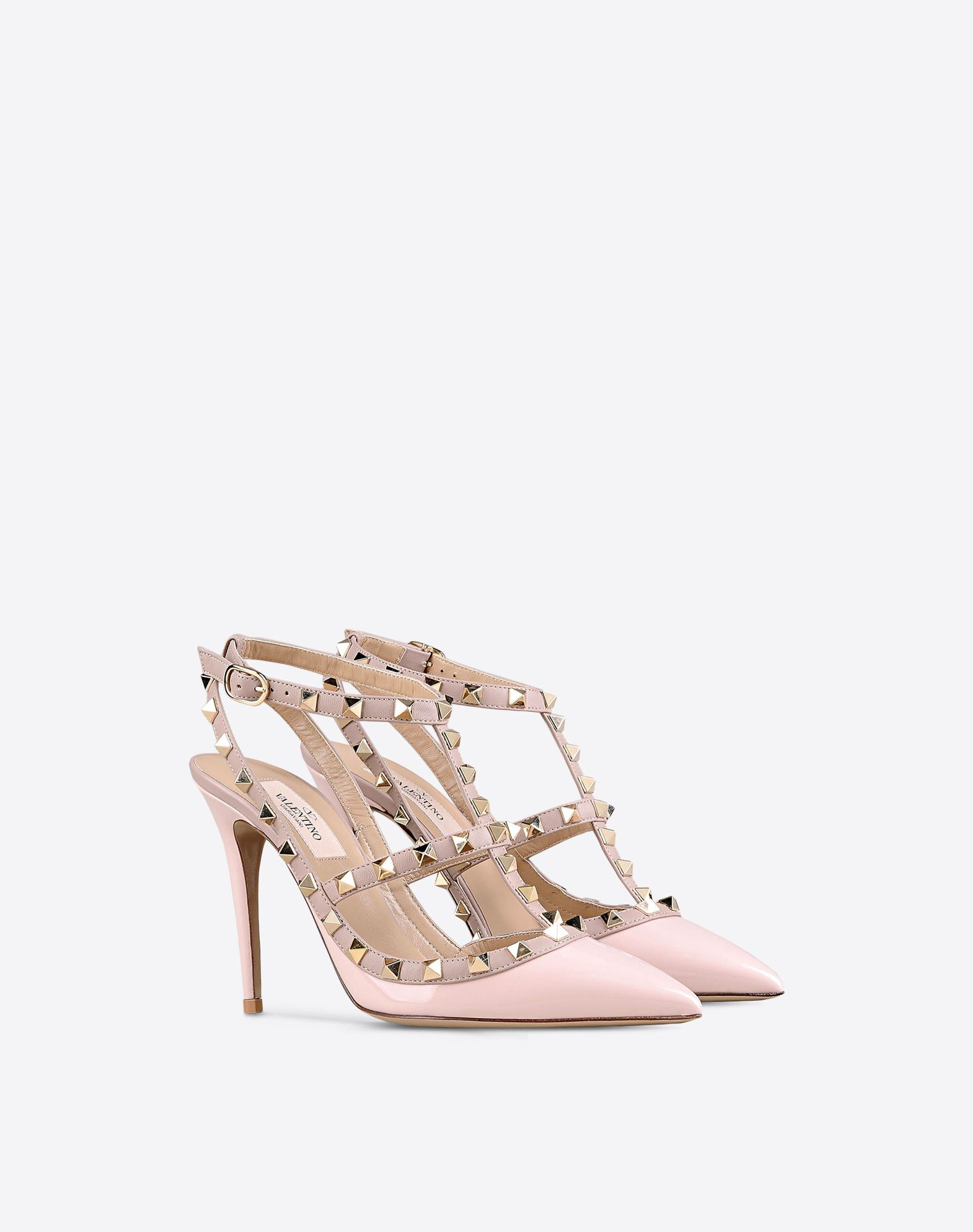 valentino rockstud ankle in pink lyst
