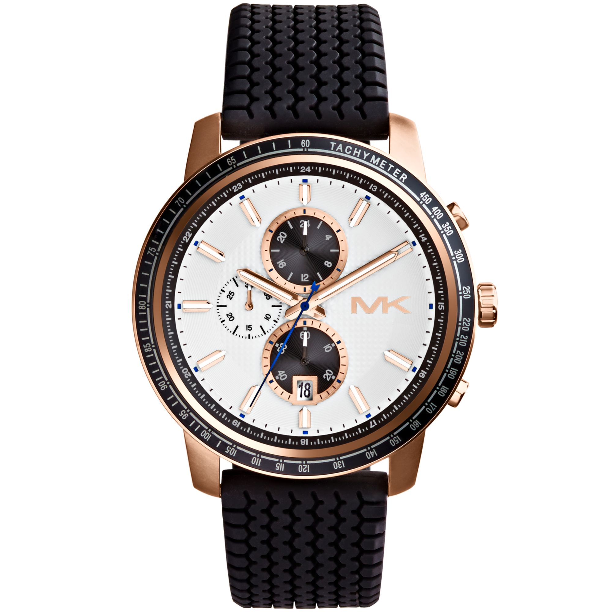 michael kors mens chronograph granger black silicone strap watch gallery previously at macy s · men s michael kors chronograph