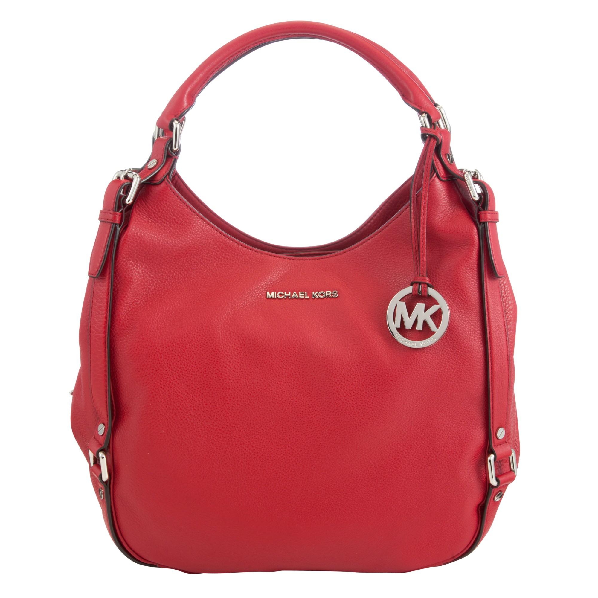 59b899075218bf Michael Kors Bedford Large Leather Shoulder Tote Bag in Red - Lyst