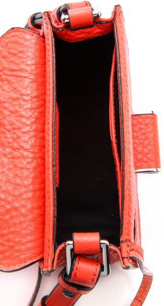 mackage novaki small cross body bag poppy in red poppy