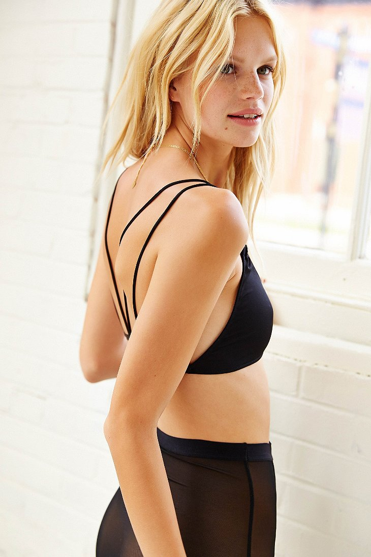 ae5f736f0d Lyst - Silence + Noise Strappy-back Micro Bra in Black
