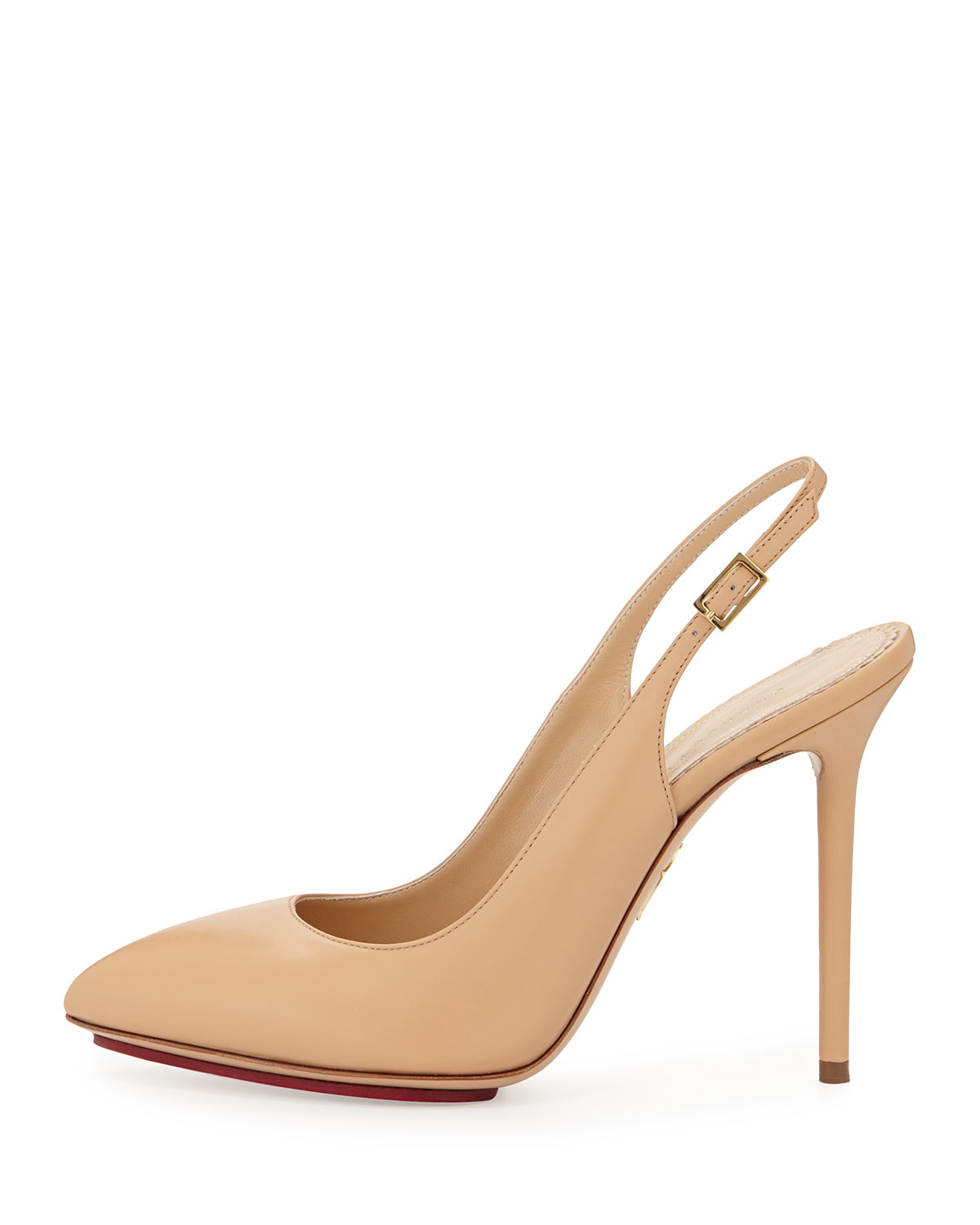 Charlotte Olympia Taupe Sling Back Sandals n3iNTYhI