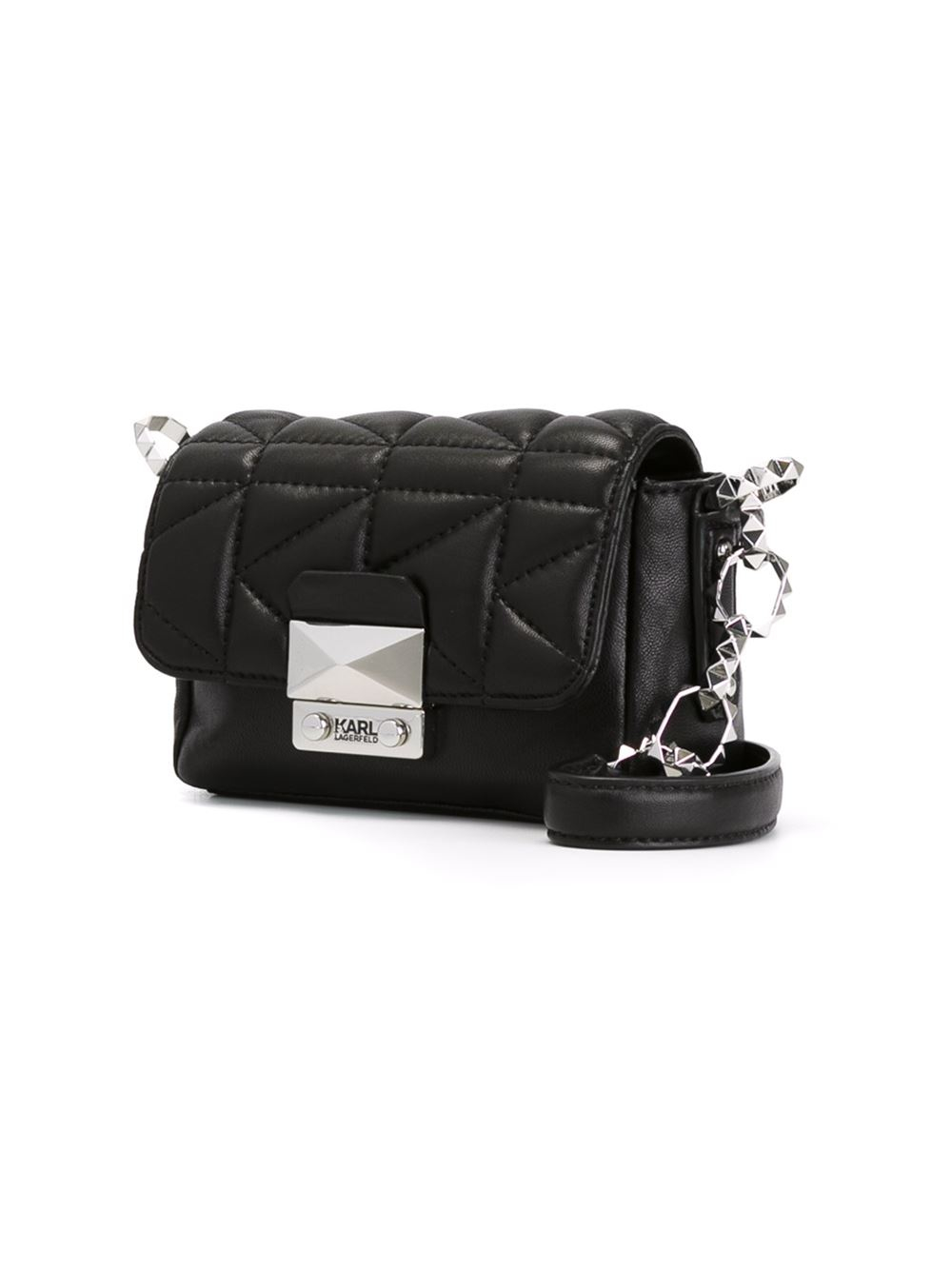 2c2d0d3a0e Karl Lagerfeld Mini Quilted Cross-Body Bag in Black - Lyst