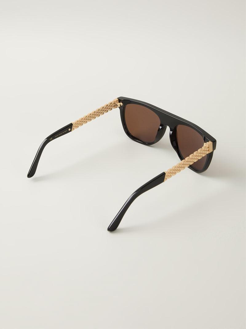 9bf211cf1a28 Lyst - Retrosuperfuture 'Flat Top Francis Gold' Sunglasses in Black