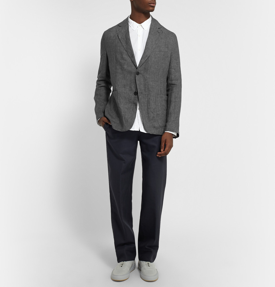 Lyst Our Legacy Grey Unstructured Linen Blazer In Gray