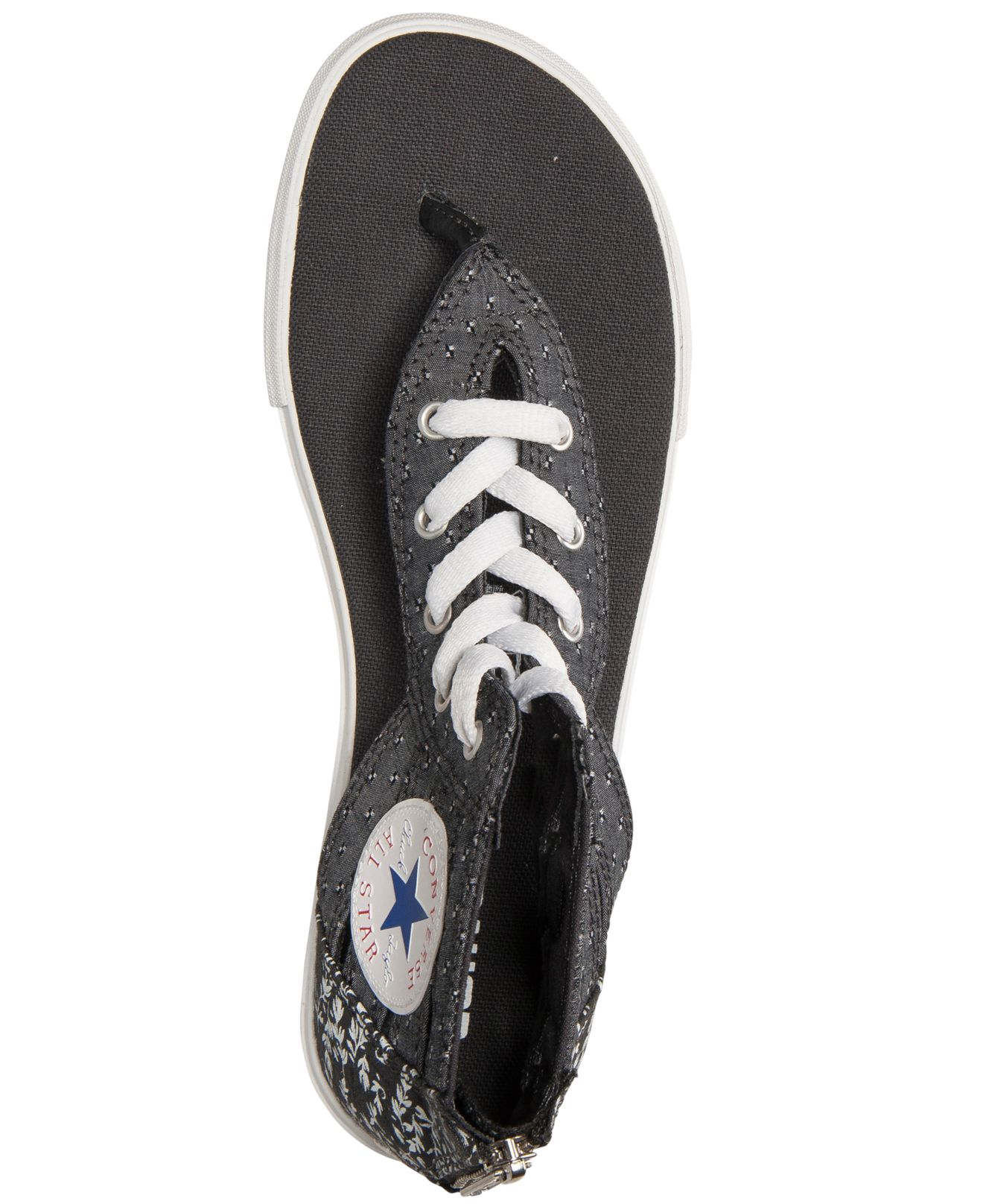 Lyst - Converse Women S Chuck Taylor Gladiator Thong Sandals From ... 592beb38d
