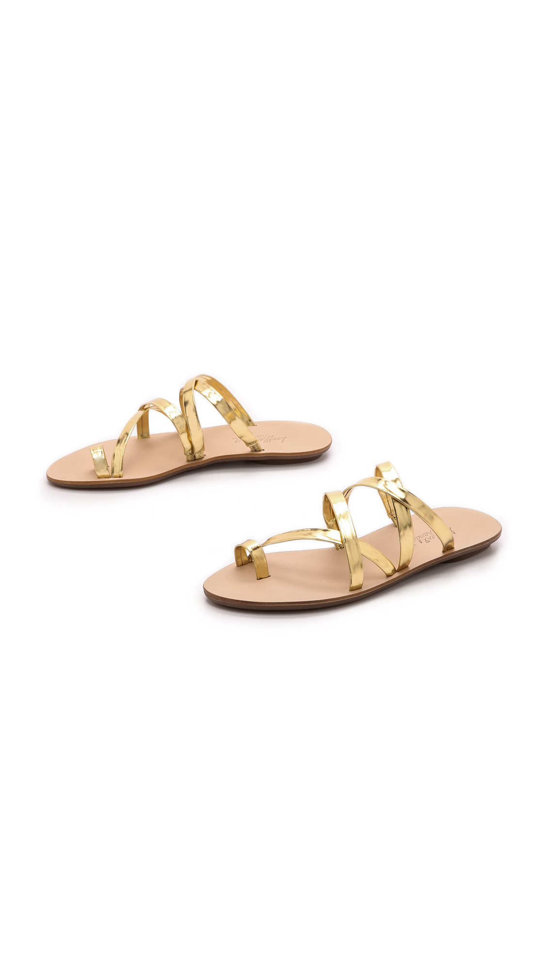 5354d384c Loeffler Randall Sarie Strappy Flat Sandals - Gold in Metallic - Lyst
