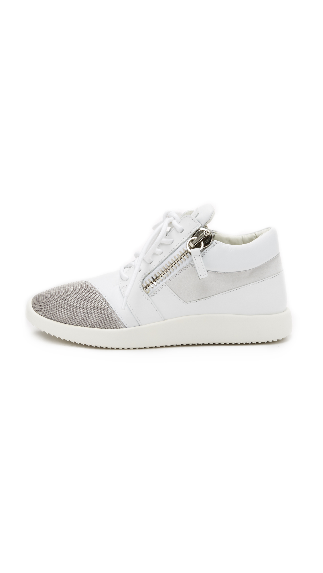 giuseppe zanotti sneakers in white lyst