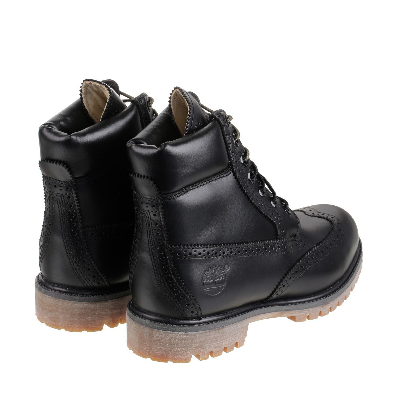 timberland brogue 6 inch premium boot in black for men lyst. Black Bedroom Furniture Sets. Home Design Ideas