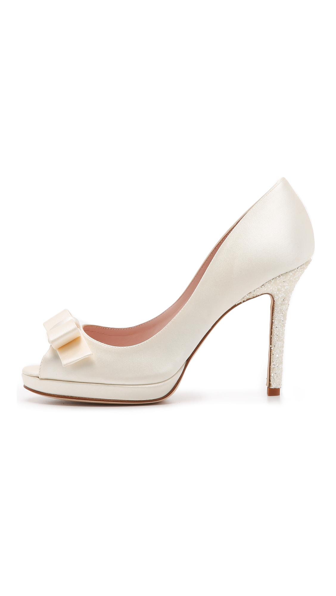 75fa0ad58d1 Lyst - Kate Spade Felisha Peep Toe Pumps - Ivory in White