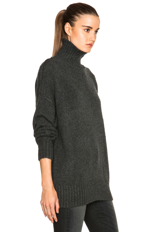 Nlst Oversized Turtleneck Sweater in Gray | Lyst
