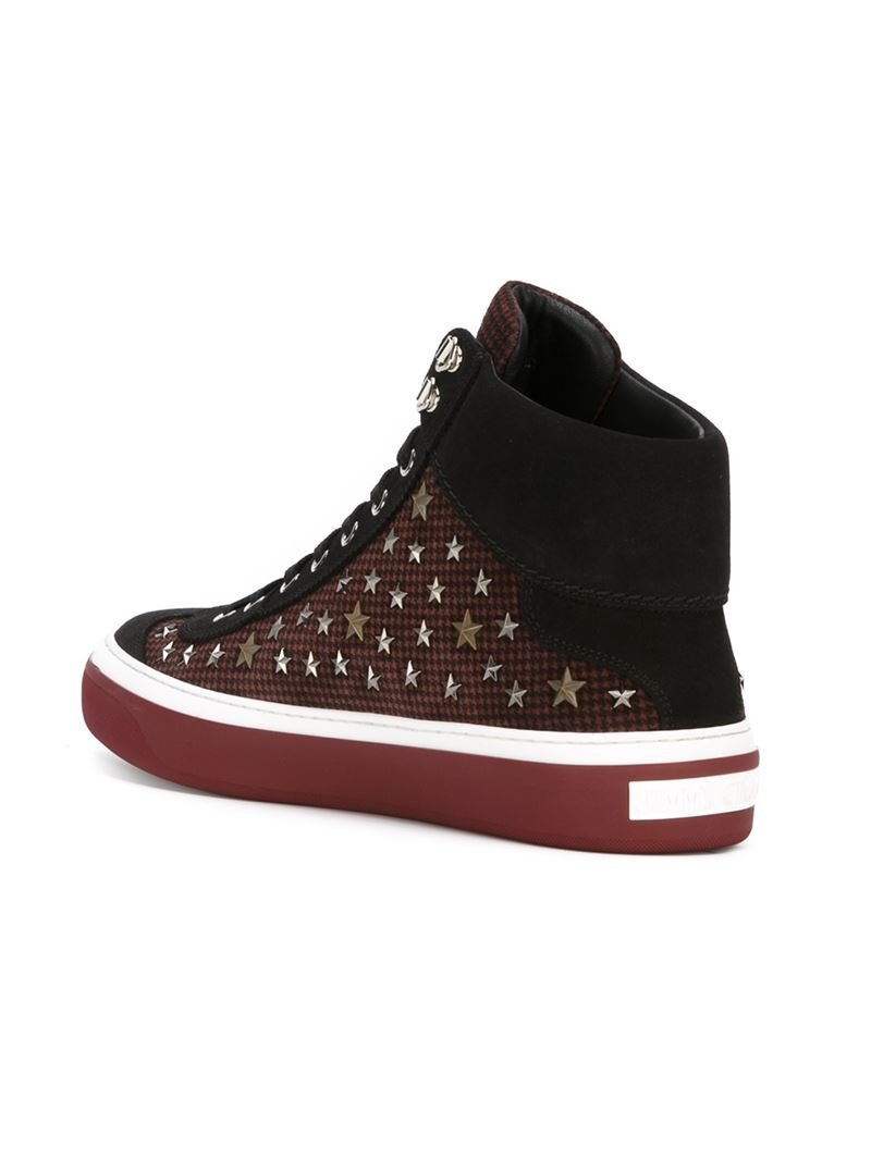 689b58b867b6 Lyst - Jimmy Choo  argyle  Hi-top Sneakers in Black for Men