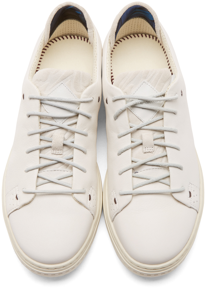 2576e386c5f3b Lyst - Paul Smith White Leather And Suede Bowie Sneakers in White ...
