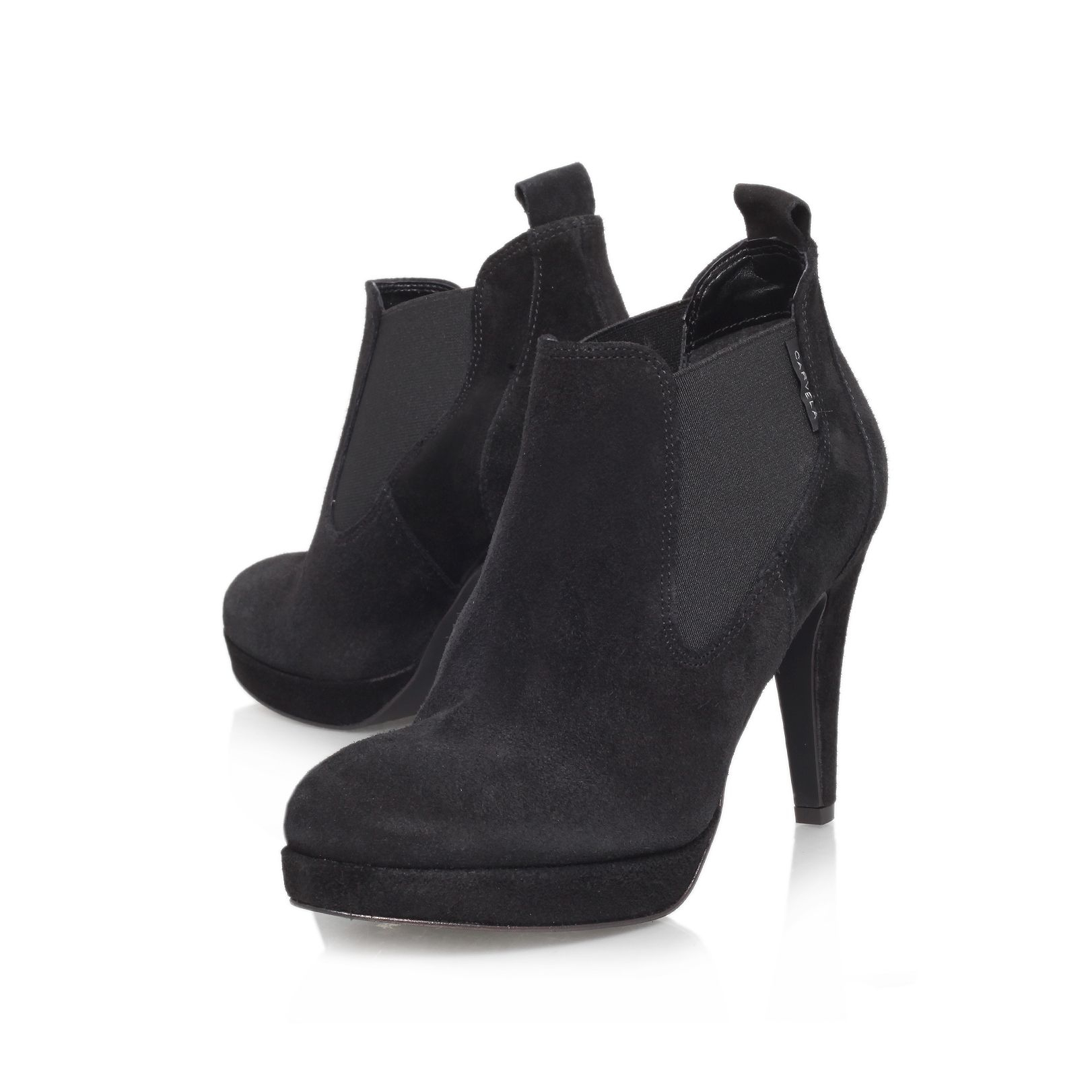 carvela kurt geiger air high heeled shoe boot in black lyst