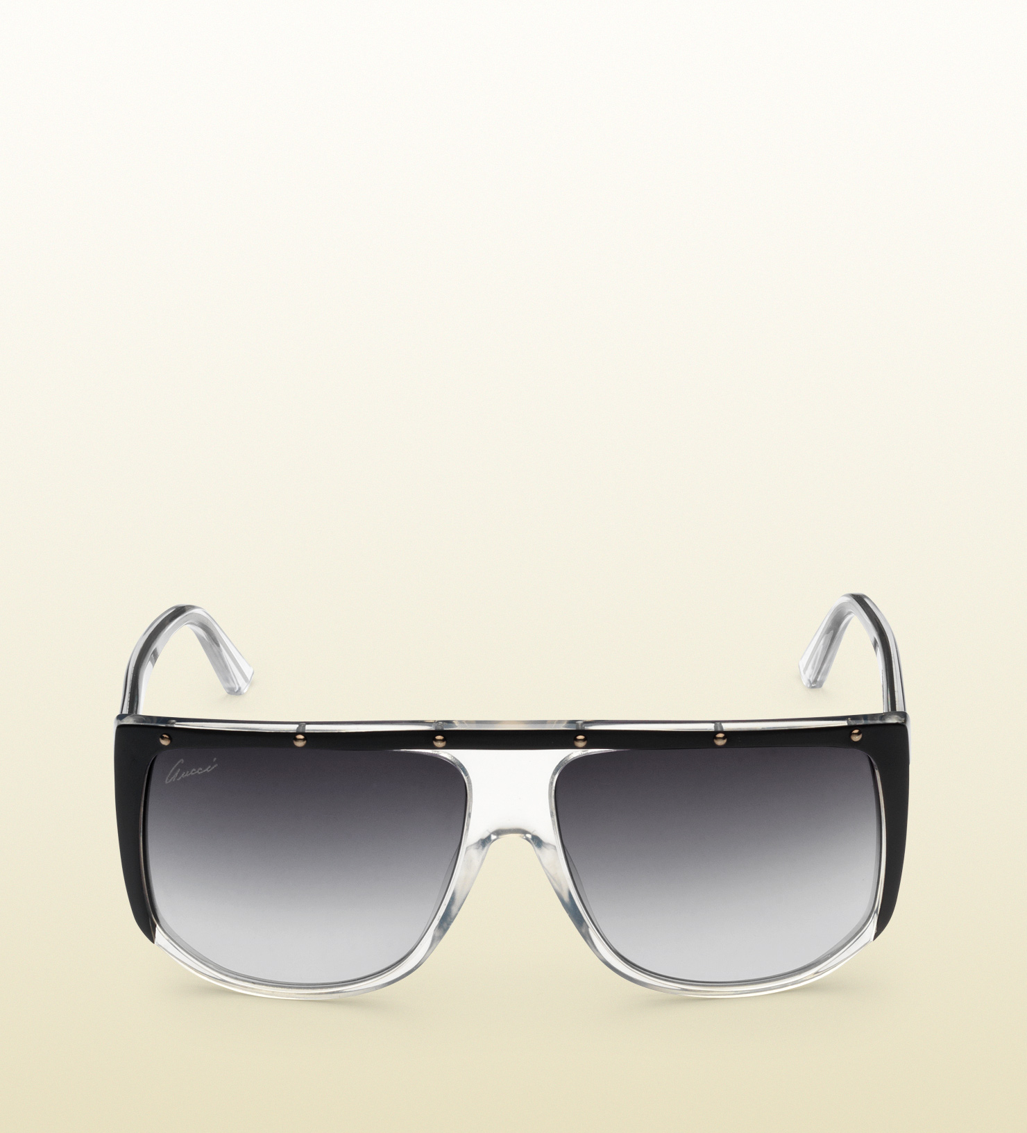 Lyst Gucci Large Shaded Mask Sunglasses In Black For Men
