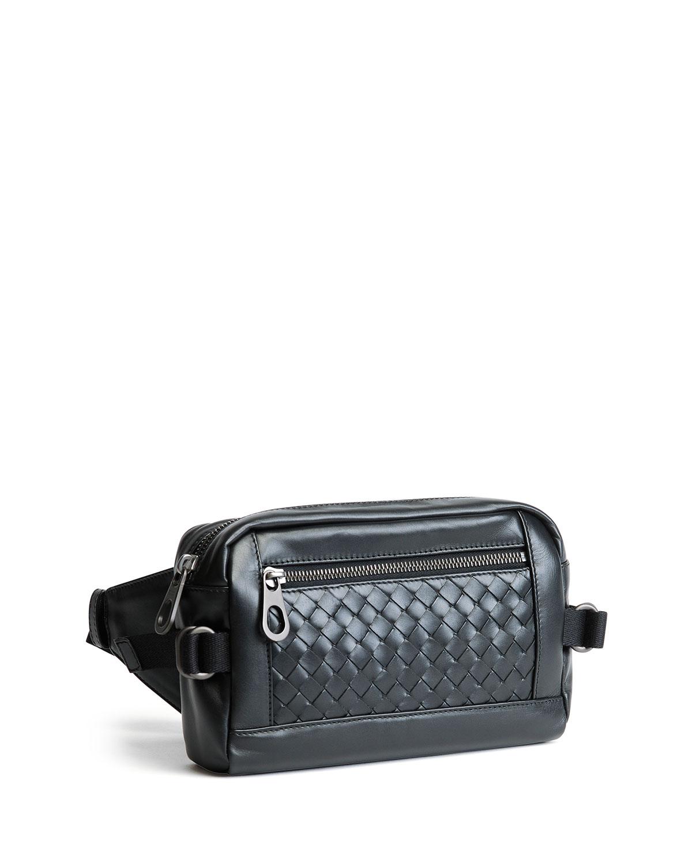 c411b53e6e2c Lyst - Bottega Veneta Intrecciato Leather Belt Bag in Black for Men