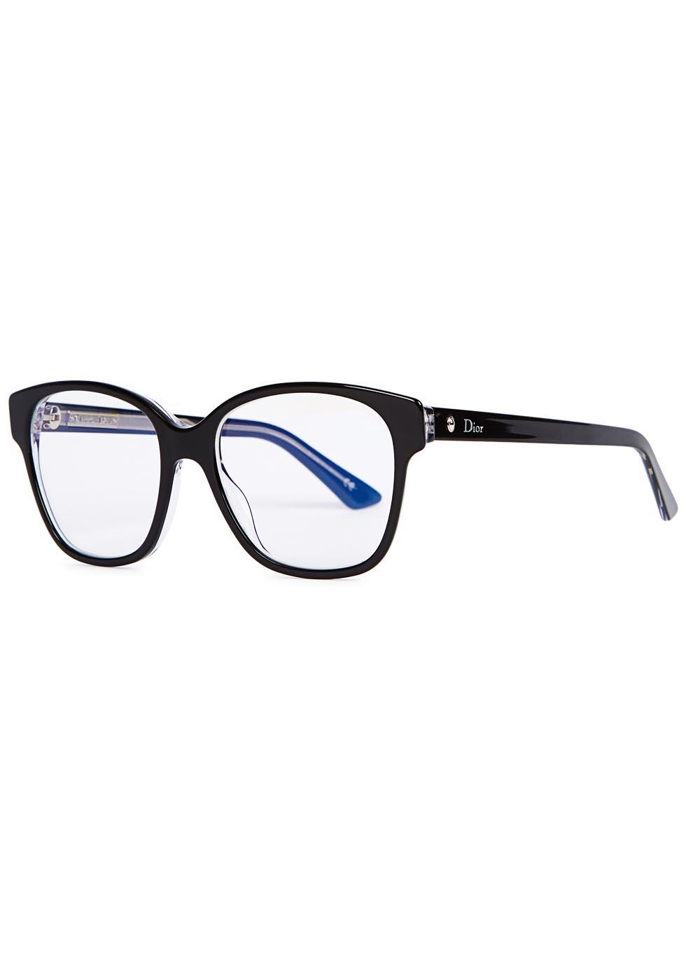 4d1a3d9623 Dior Montaigne 8 Black Optical Glasses in Blue - Lyst