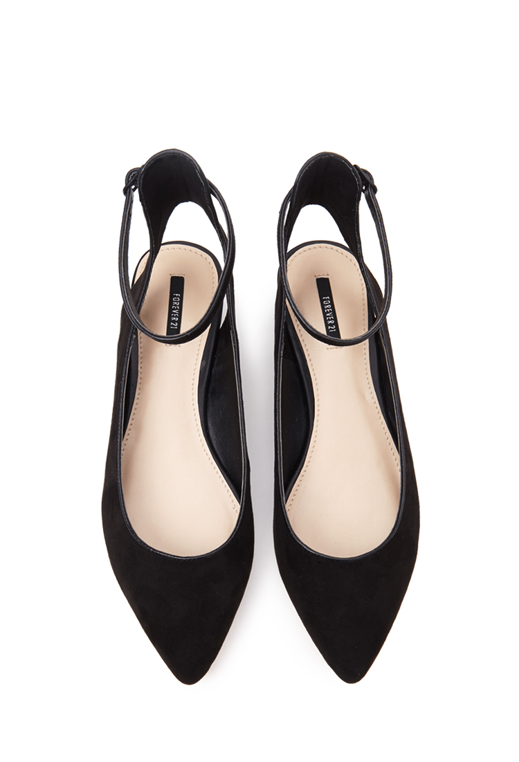 Forever 21 Pointed Ankle Strap Flats You Ve Been Added To