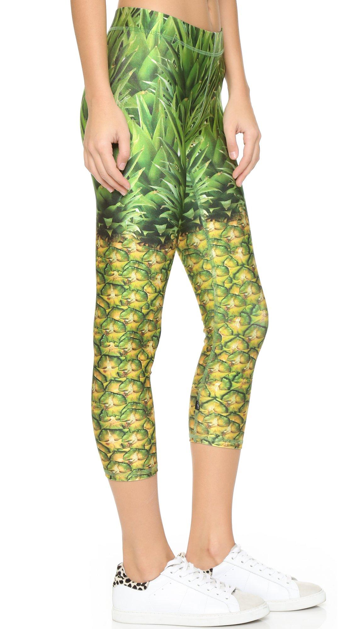 1da1df34532c4b Terez Natural Pineapple Performance Leggings in Green - Lyst