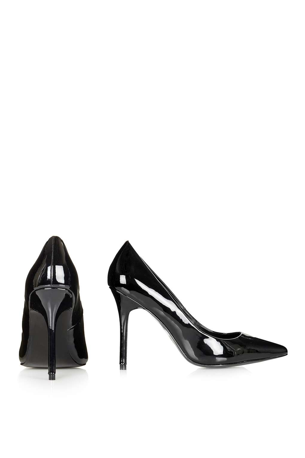 topshop gemini2 patent court shoes in black lyst
