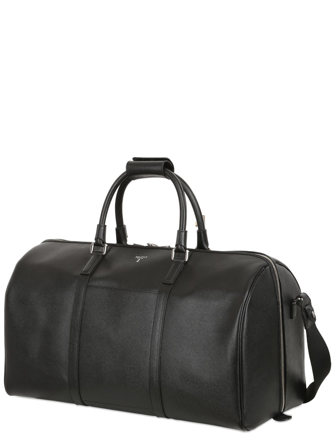 Lyst Serapian Saffiano Leather Duffle Bag In Black For Men