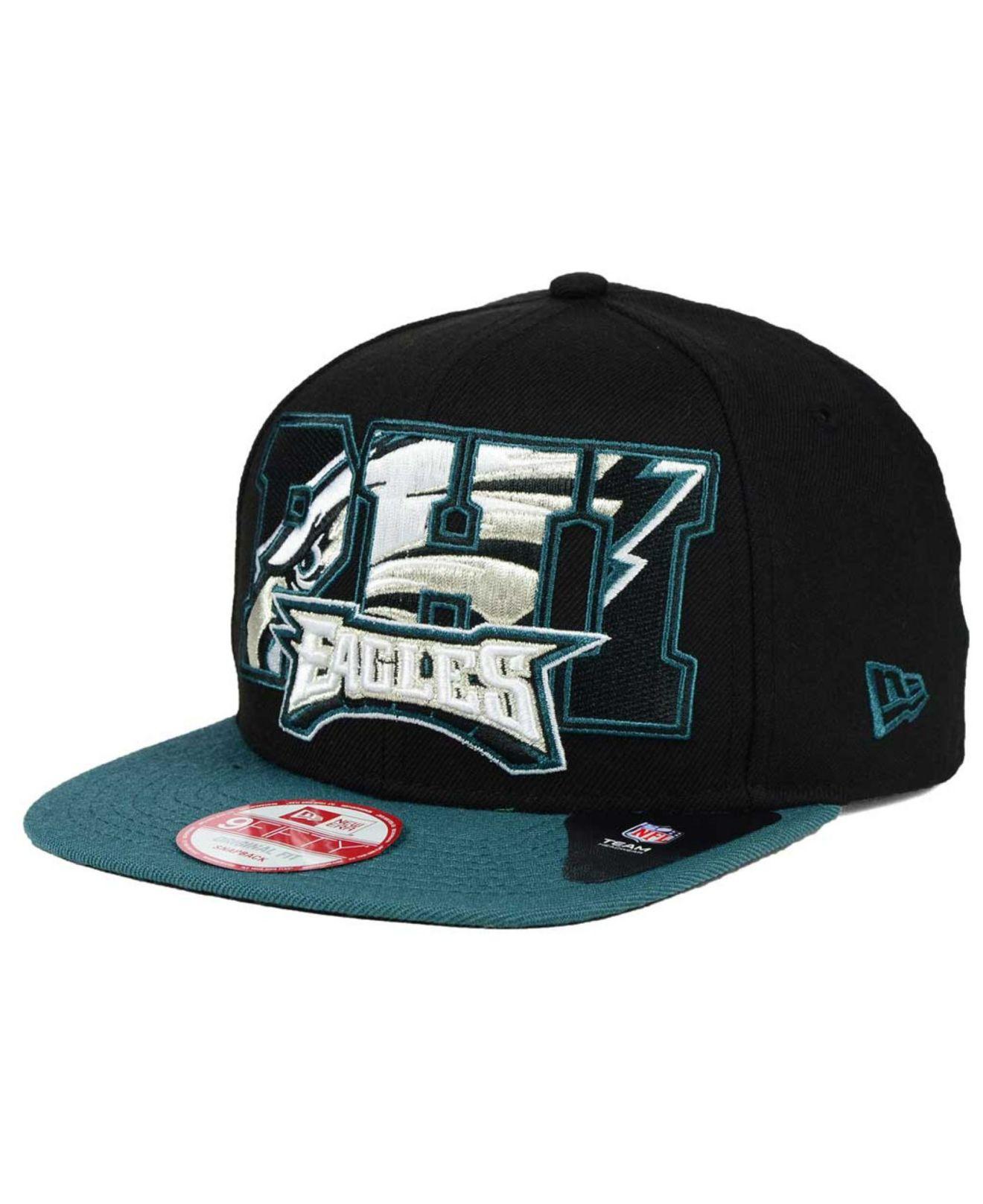 Lyst - Ktz Philadelphia Eagles Big City 9fifty Snapback Cap in Black ... 06acecfee592