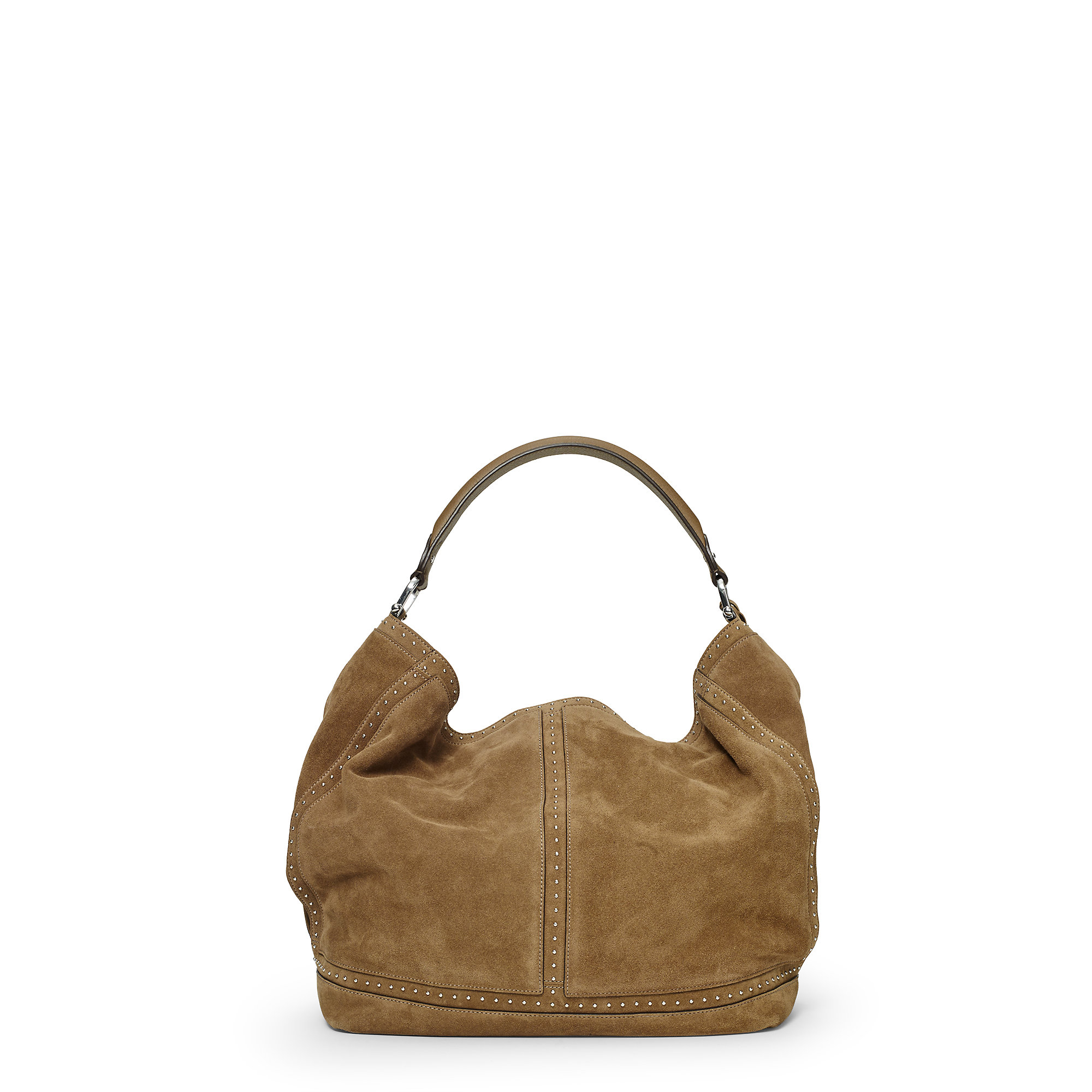 Ralph lauren Bastwick Suede Hobo Bag in Brown | Lyst