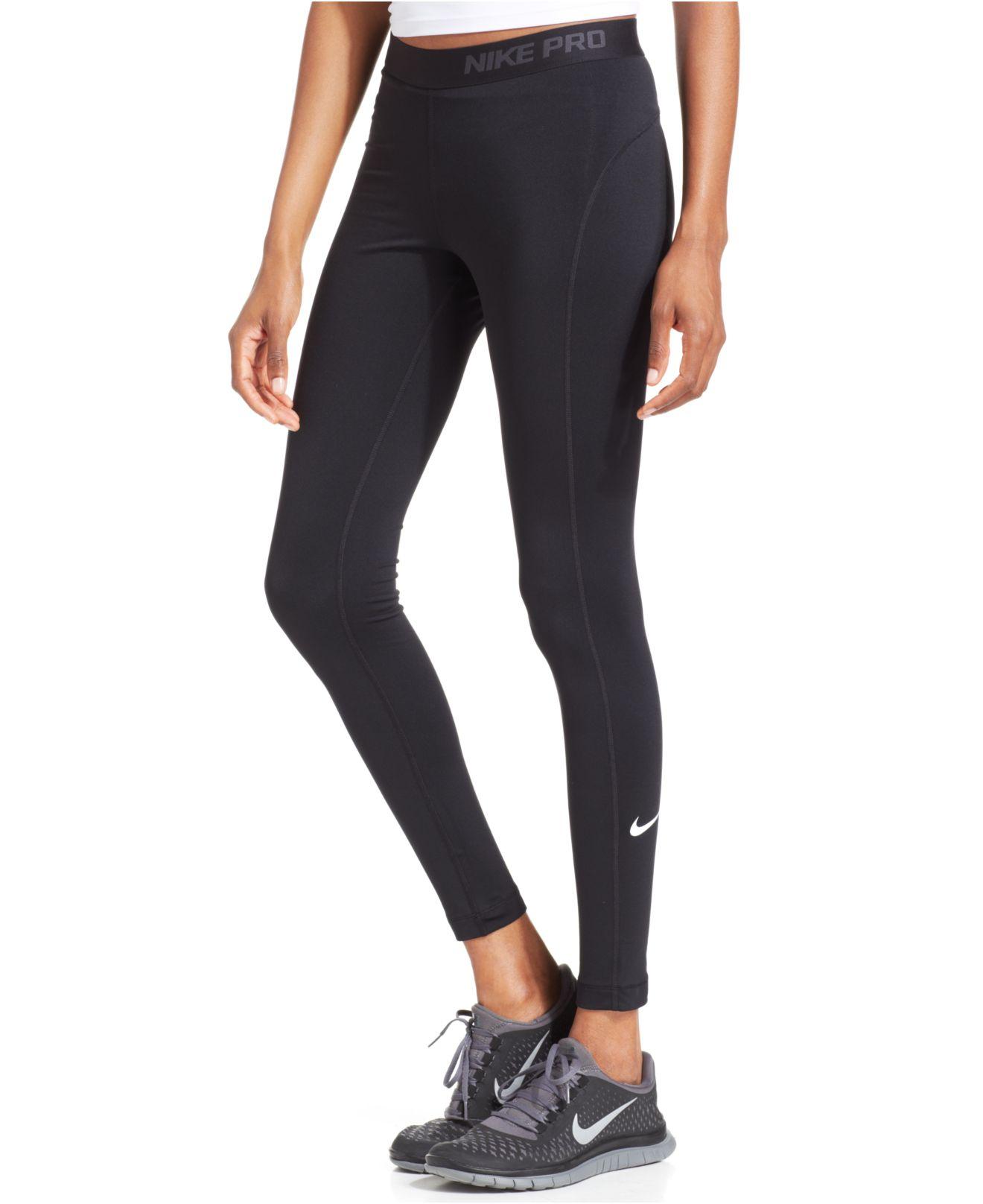 lyst nike pro hyperwarm 3 0 dri fit leggings in black. Black Bedroom Furniture Sets. Home Design Ideas
