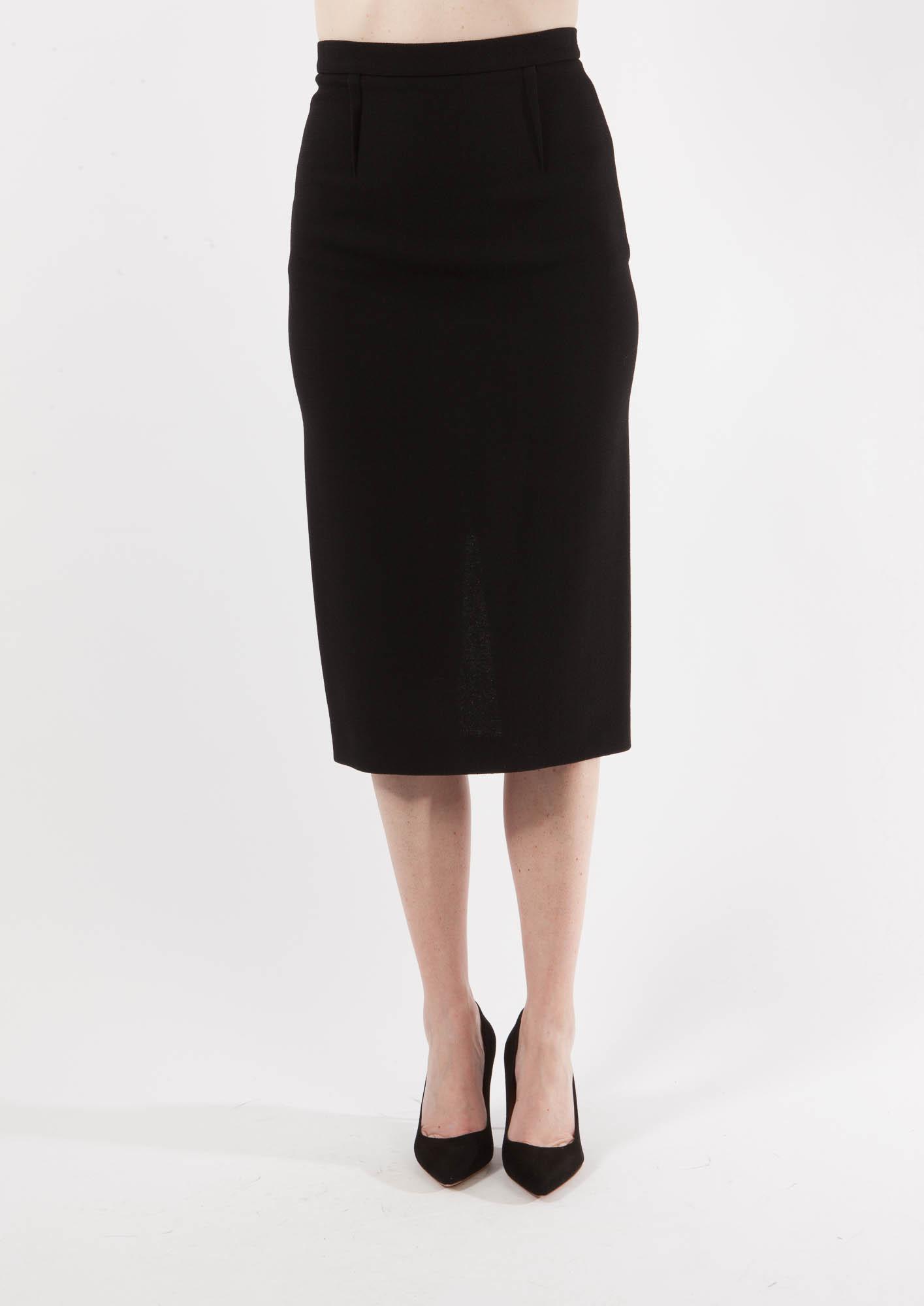 roland mouret black arreton pencil skirt in black lyst