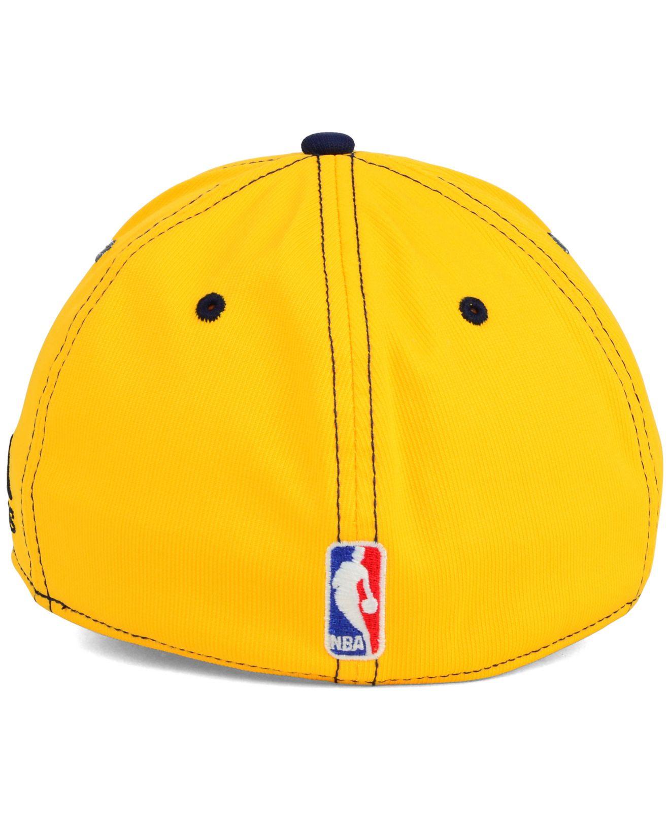 Adidas Denver Nuggets 3 Stripe Jacket: Adidas Denver Nuggets 2-Tone Flex Cap In Yellow For Men
