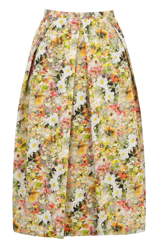 109228b35 Oasis Lemon Ditsy Full Midi Skirt - Lyst
