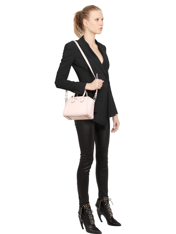 7f392a170a Lyst - Givenchy Antigona Mini Leather Cross-body Bag in Pink