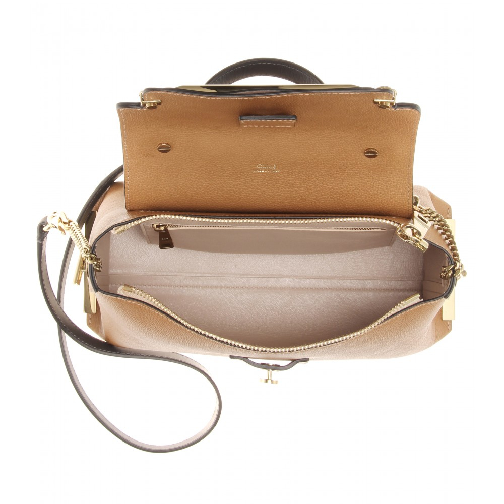 fb2371bd2f4a0 Chloé Clare Medium Leather Shoulder Bag in Brown - Lyst