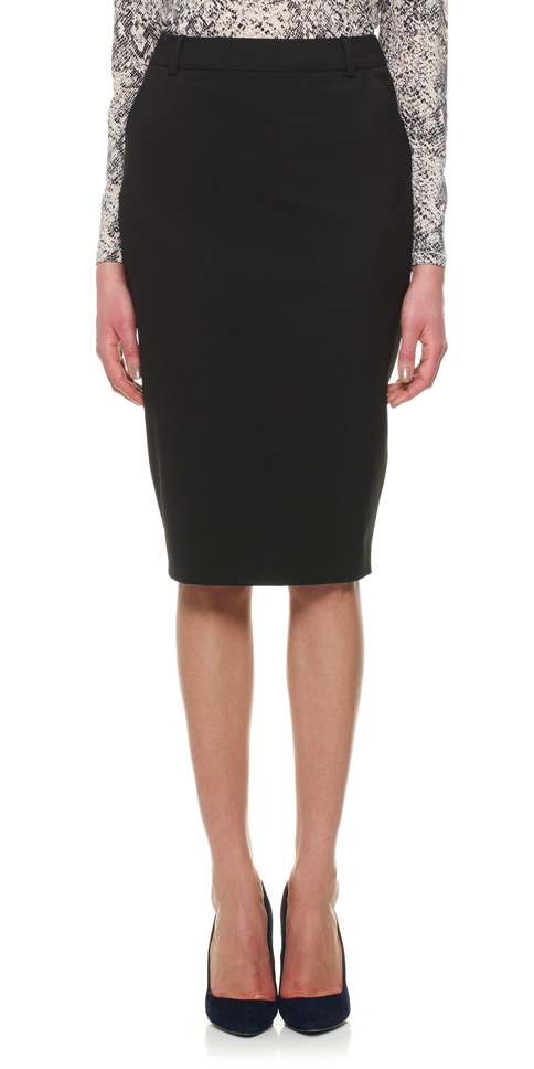 Whistles Lula Tailored Pencil Skirt in Black | Lyst