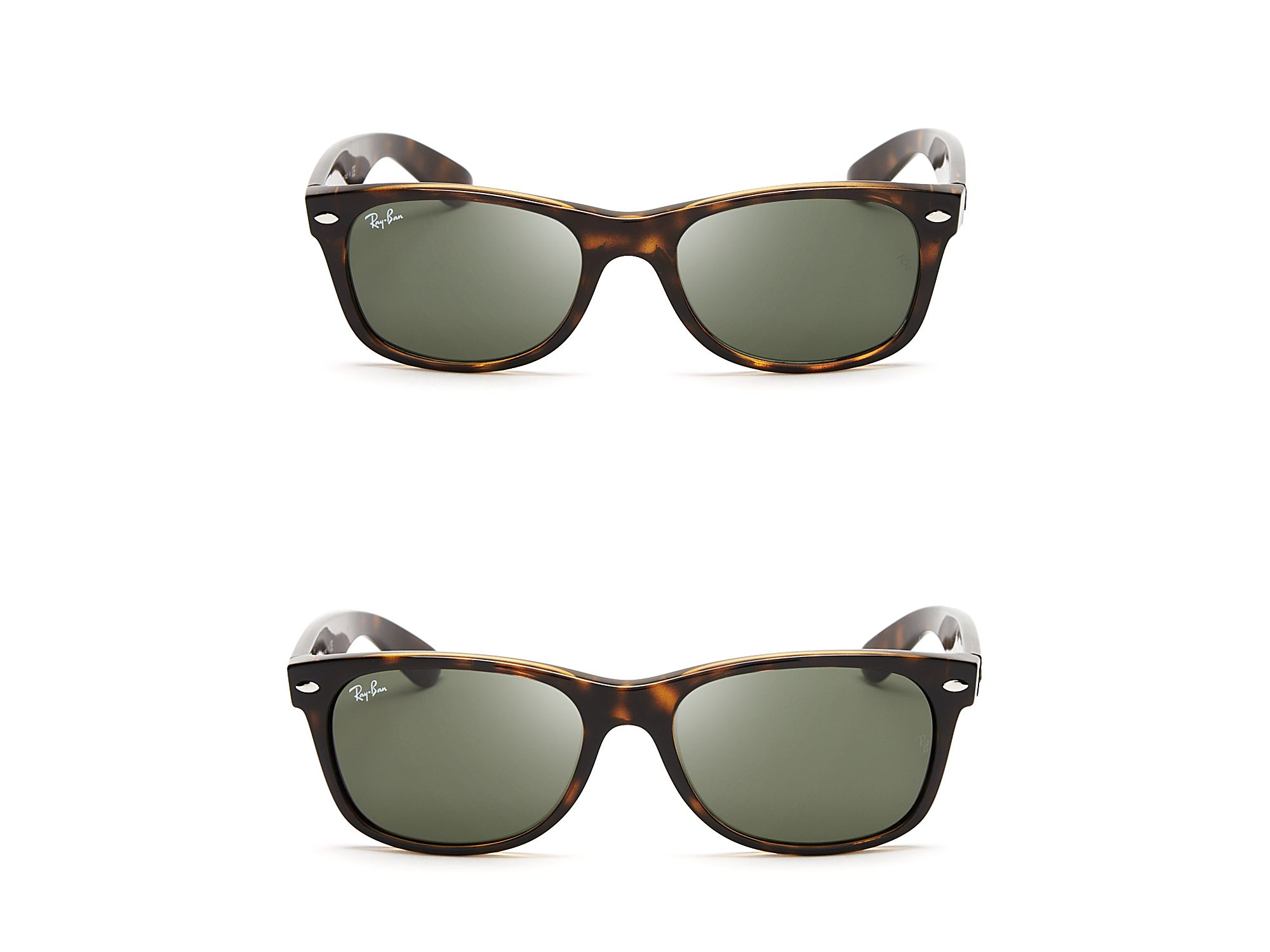ray ban new wayfarer sunglasses in brown dark tortoise lyst. Black Bedroom Furniture Sets. Home Design Ideas