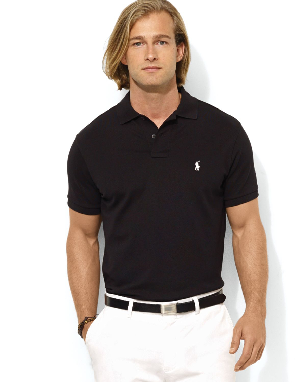 Polo ralph lauren polo shirt custom fit ralph lauren polo for Mens slim polo shirts