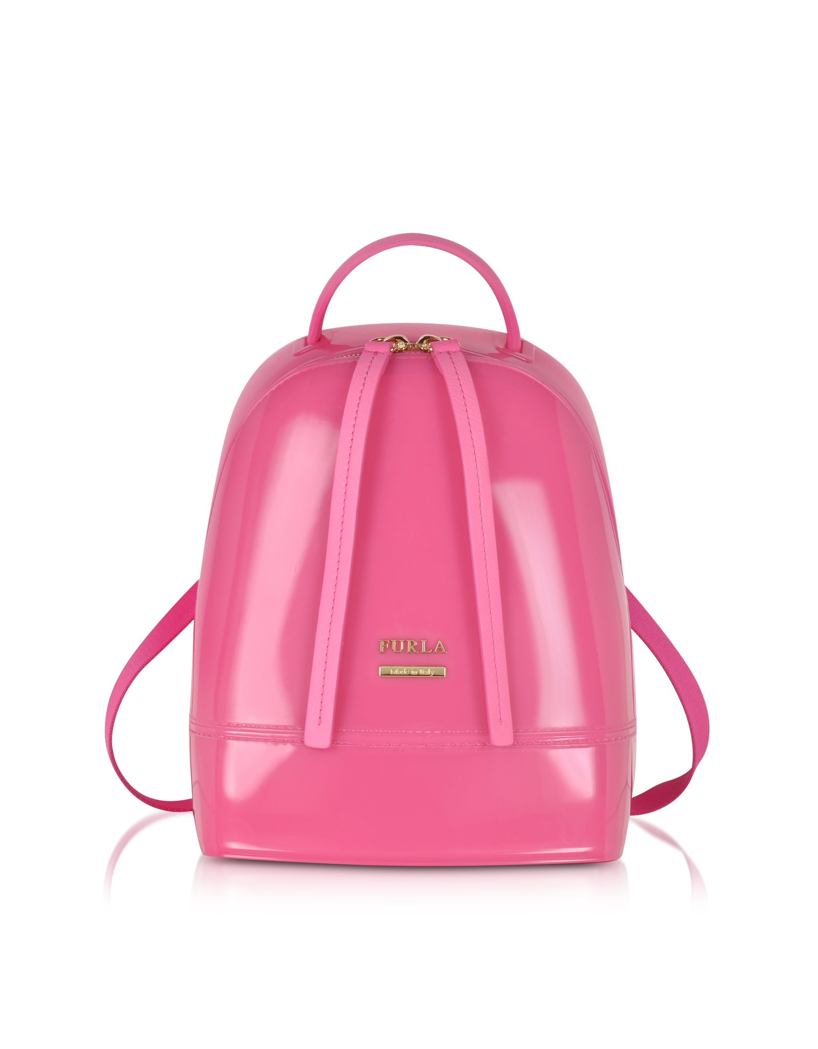 Furla Candy Jelly Rubber Mini Backpack in Pink | Lyst
