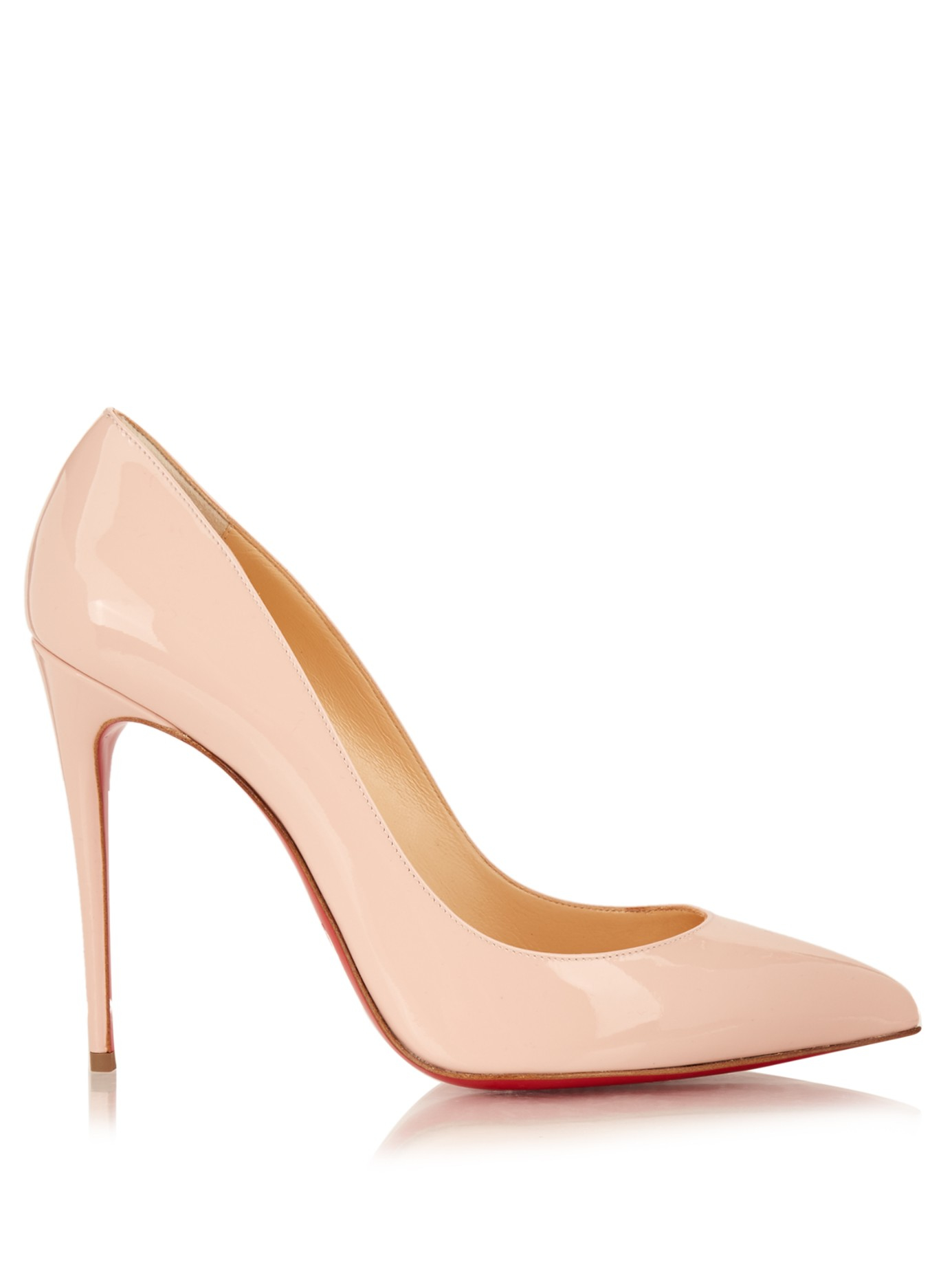 46c1532105f Lyst - Christian Louboutin Pigalle Follies Patent-Leather Pumps in Pink