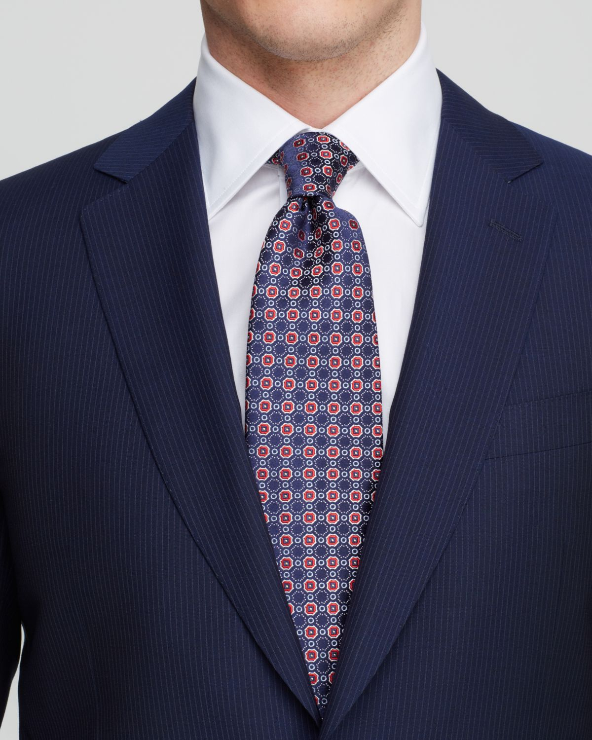 Lyst Canali Firenze Narrow Pinstripe Suit Classic Fit